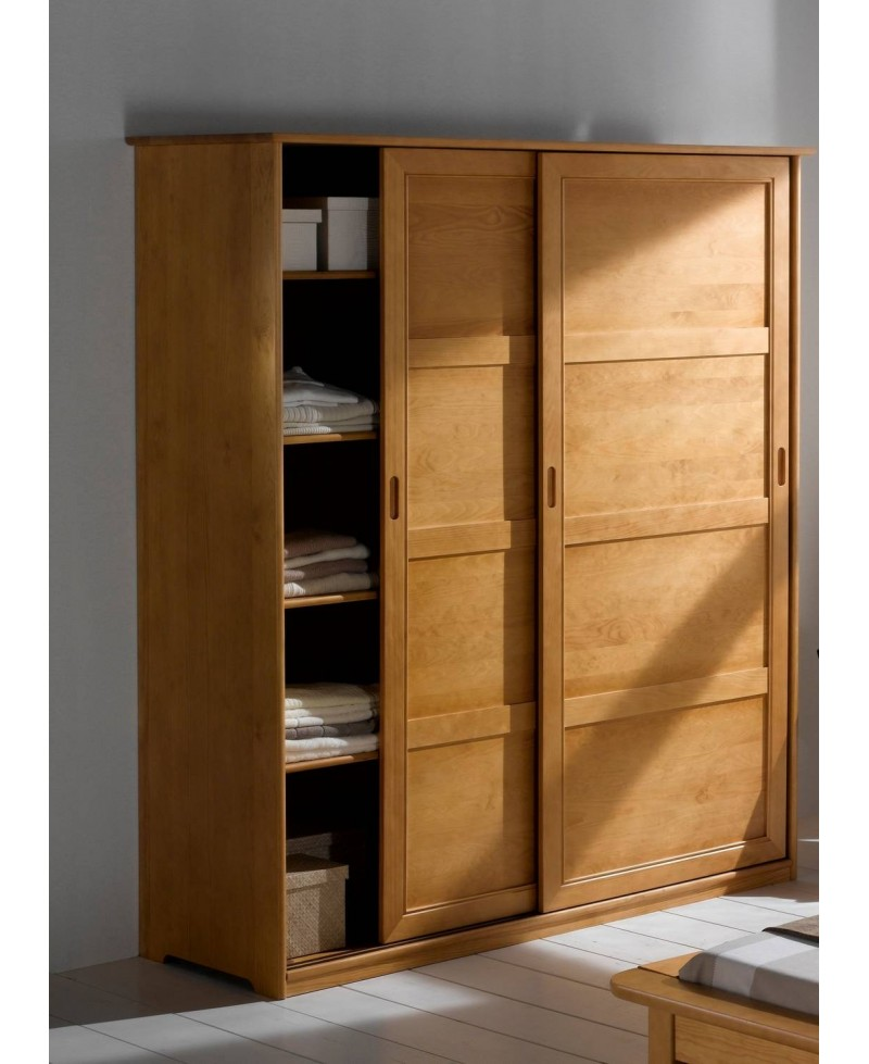 ARMOIRE 2 PORTES COULISSANTES MAYA